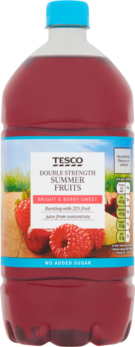 Double strength summer fruits squash - Product - fr