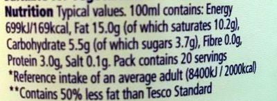 Healthy Living Crème Fraîche - Nutrition facts