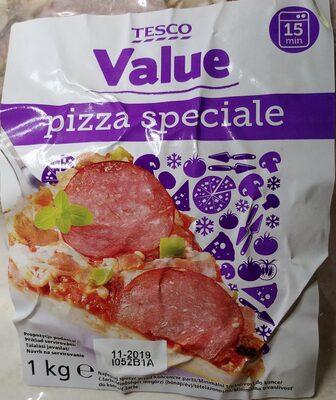Pizza z szynką wieprzową, salami wieprzowym i pieczarkami - 1