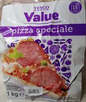 Pizza z szynką wieprzową, salami wieprzowym i pieczarkami - Produkt - pl