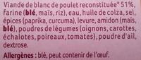 12 nuggets de poulet - Ingrediënten - fr