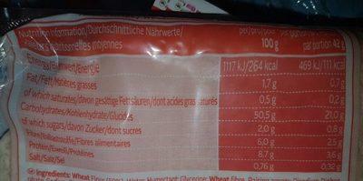 Tortilla Wraps - Nutrition facts