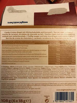 Weight Watchers Riegel Chocolate Caramel - Ingredients