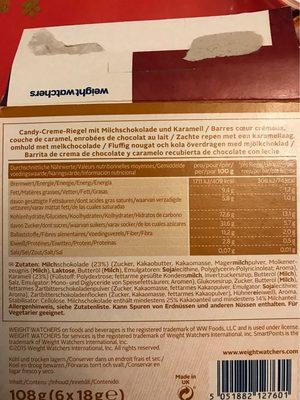 Weight Watchers Riegel Chocolate Caramel - Nutrition facts