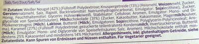 Weight Watchers Riegel Rich Toffee - Ingredients - de