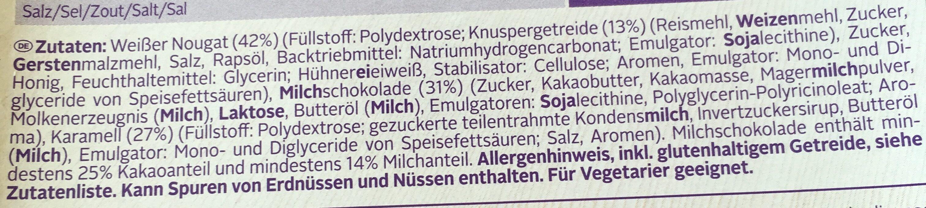 Weight Watchers Riegel Rich Toffee - Ingrediënten - de