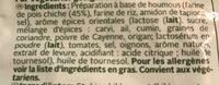 Chick Pea Oriental - Ingrédients
