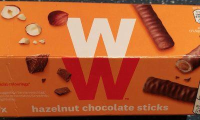Hazelnut chocolate sticks - Produit - fr