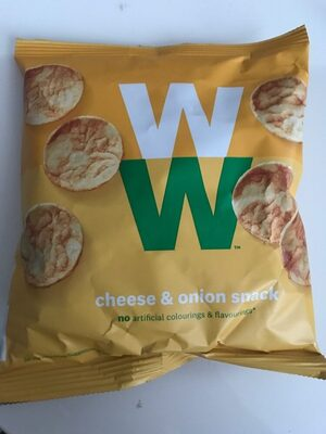 WW cheese & onion snack - Product - de