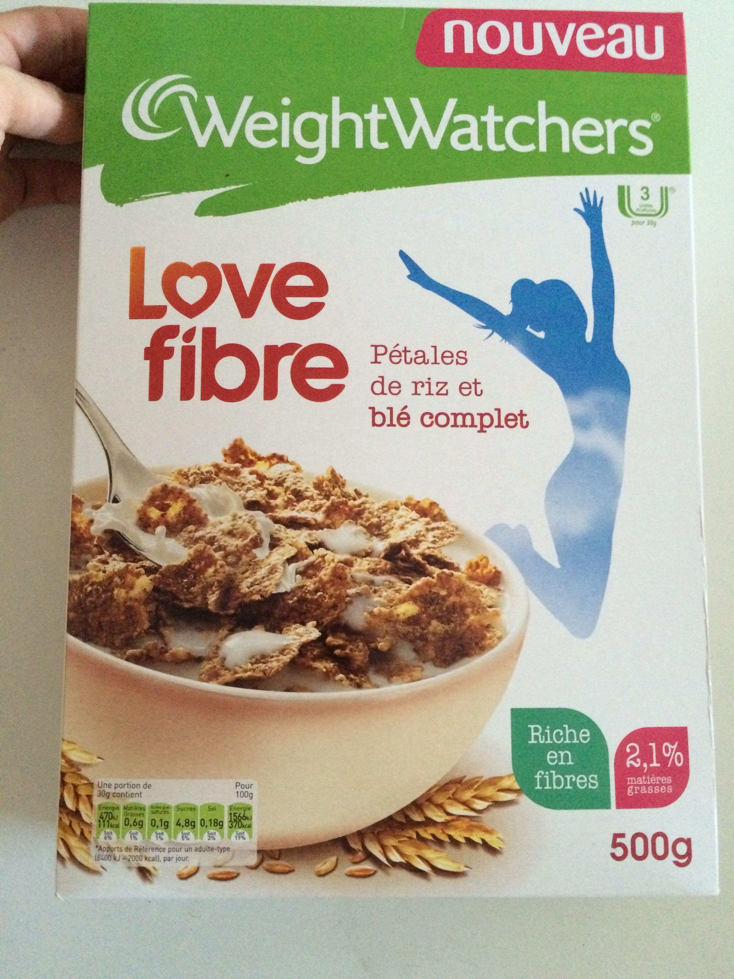 Love fibre weight watchers 500 g - Produit riche en fer ...