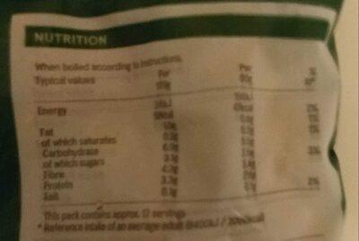 Classic mixed vegetables - Informations nutritionnelles - en