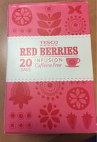 Tesco Red Berries Tea Bags 20'S 60G - Product - fr