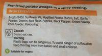 Spicy potato wedges - Ingrediënten - en