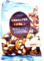 unsalted mixed nuts & raisins - Product