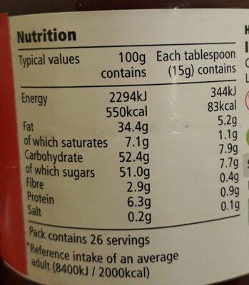 Tesco Hazelnut Chocolate Spread 400G - Informations nutritionnelles - en