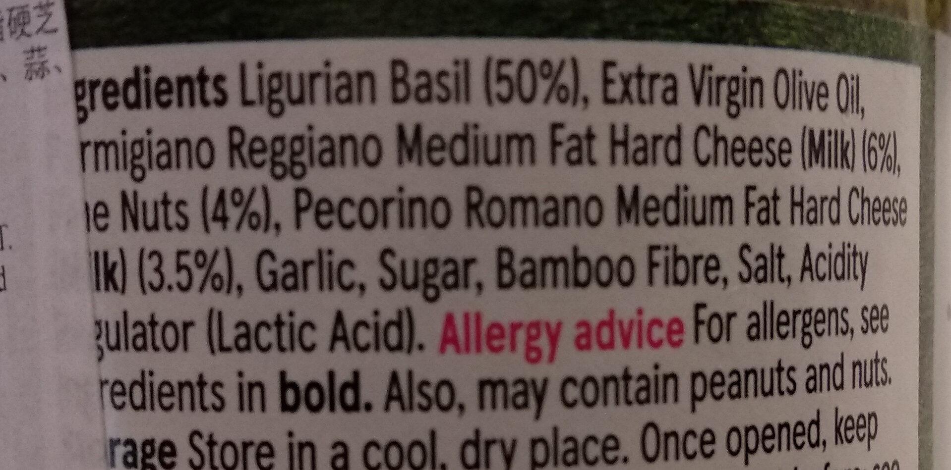 Pesto alla Genovese - Ingrediënten