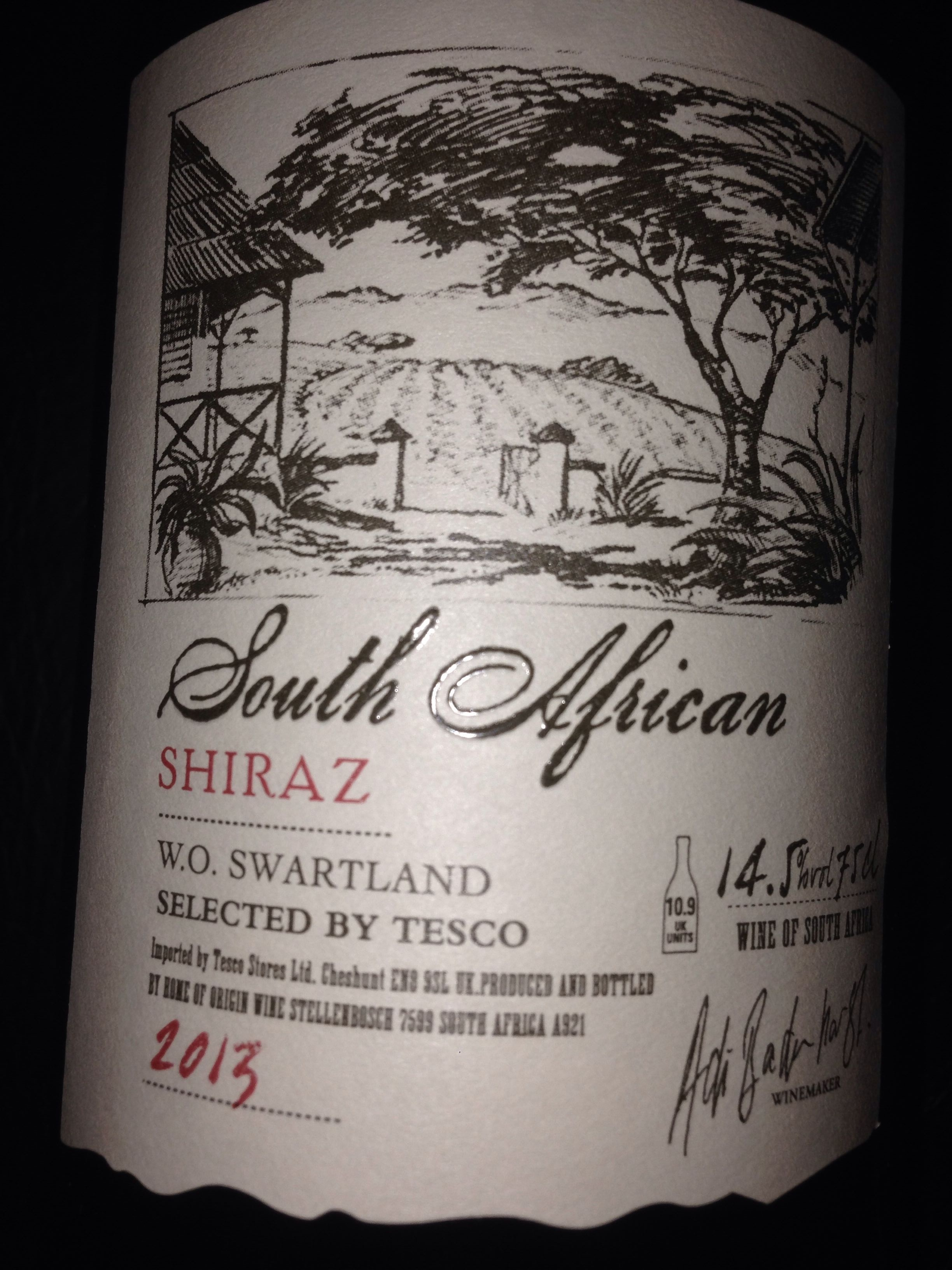 South African Shiraz - Product