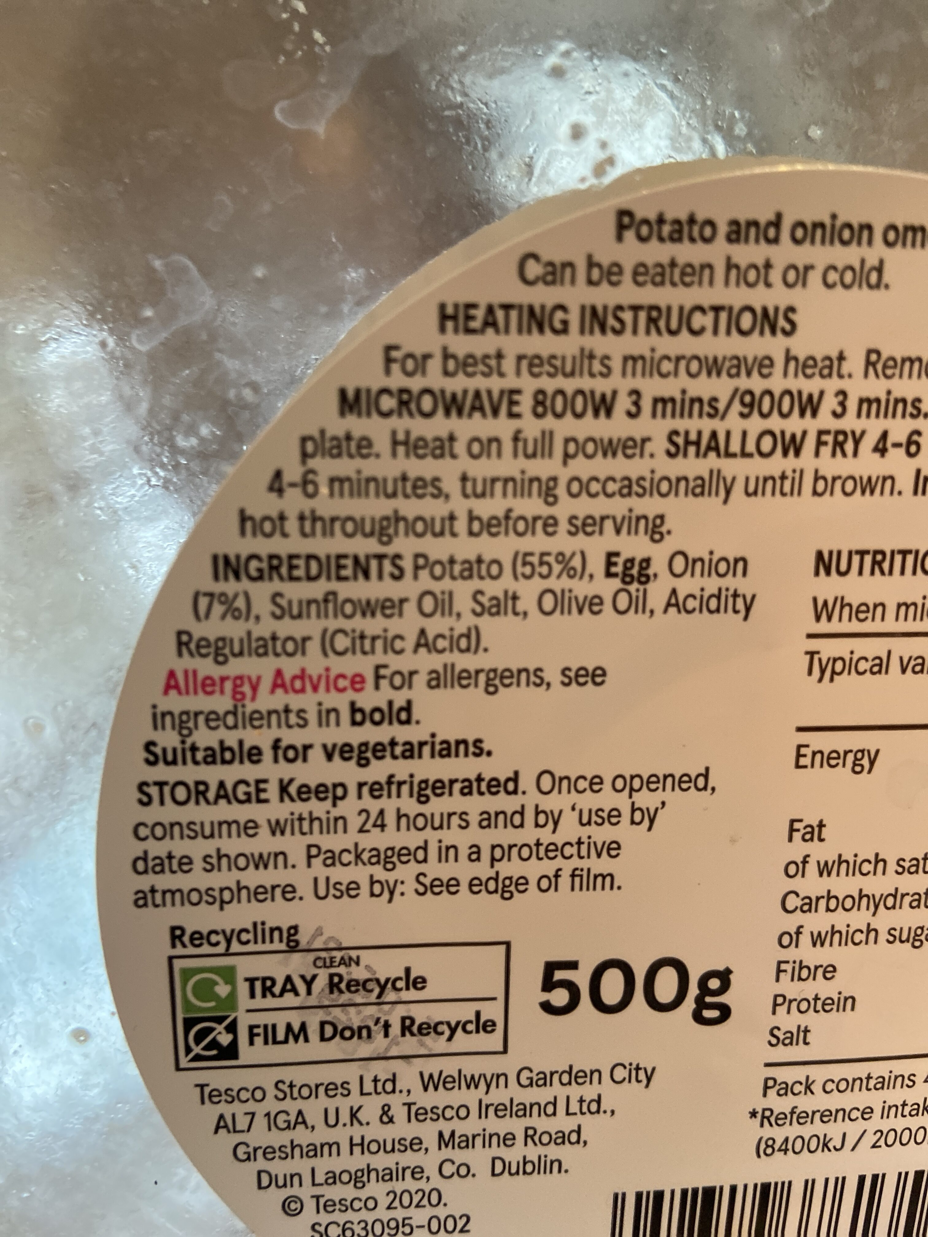 Spanish Potato And Onion Omelette - Ingredients - en