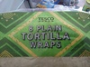 8 plain tortilla wraps - Product