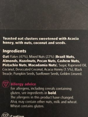 Nut Granola - Ingredients