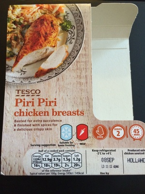 Piri Piri chicken breasts - Produit