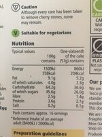 Tesco Top Iced Fruit Cake 907G - Nutrition facts