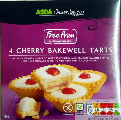 4 Cherry Bakewell Tarts - Product