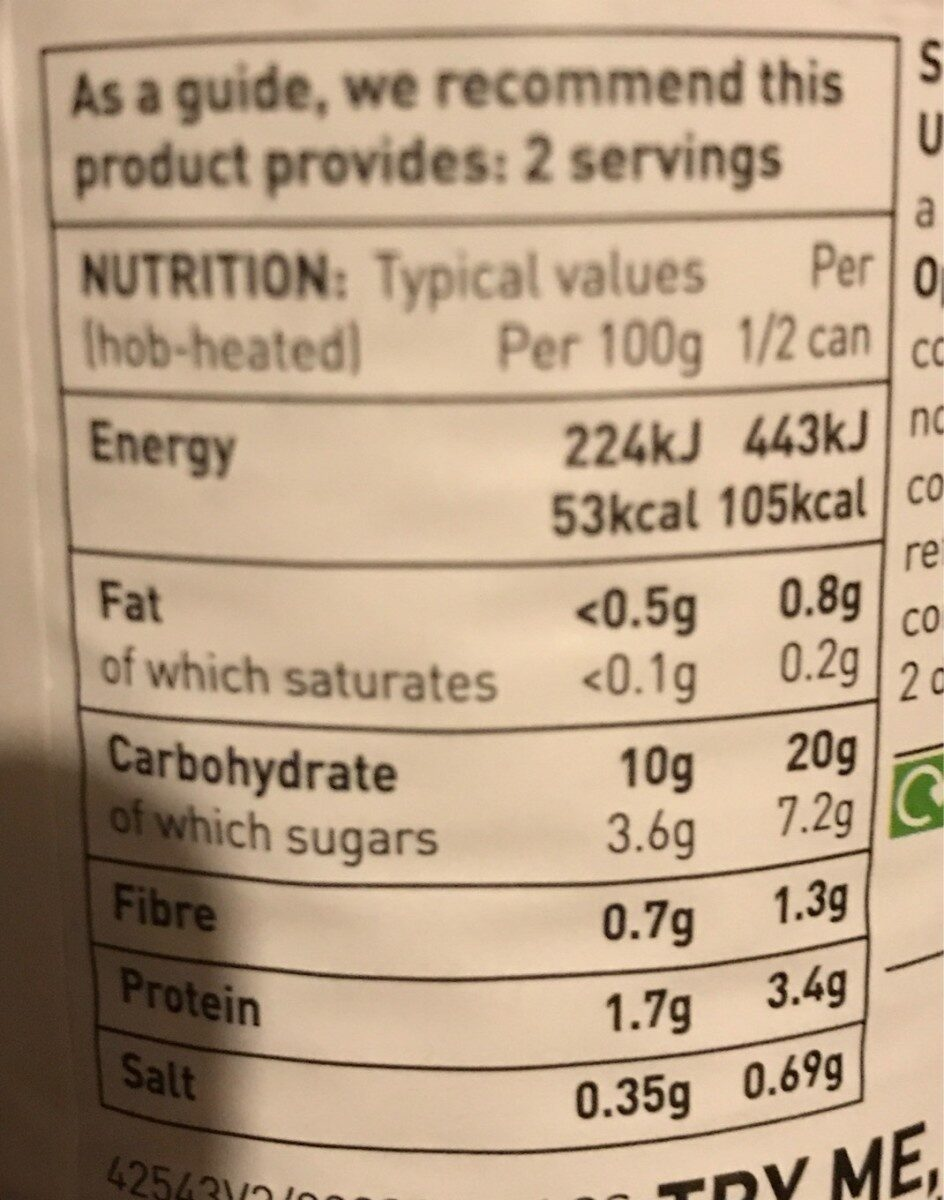 Spaghetti Loops - Nutrition facts