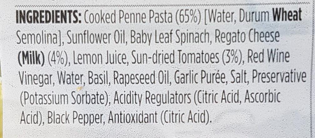 Pesto and Sun-dried Tomato Pasta Salad - Ingredients - en