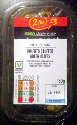 Pimento stuffed green olives - Product
