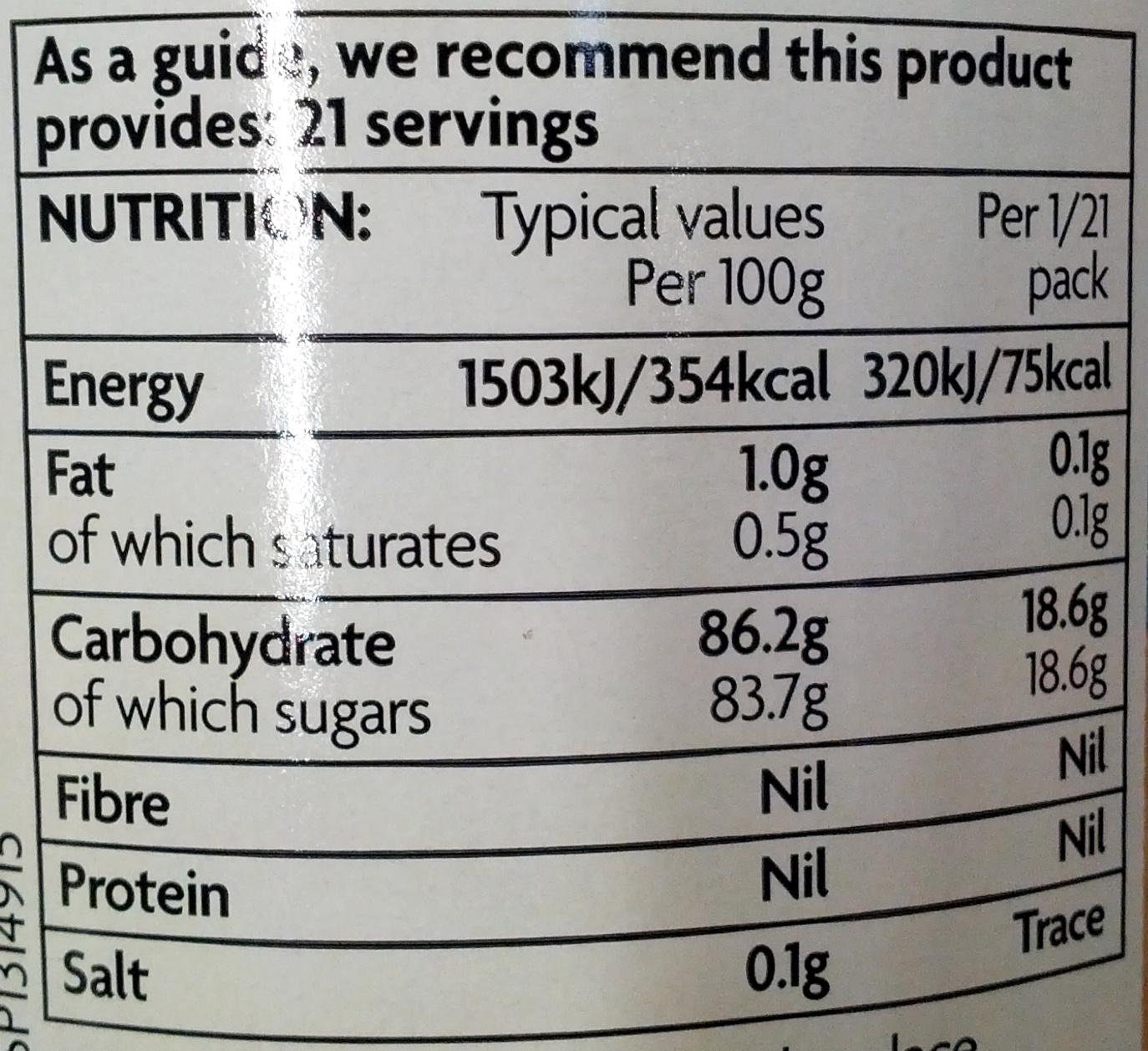 Golden Syrup - Nutrition facts - en