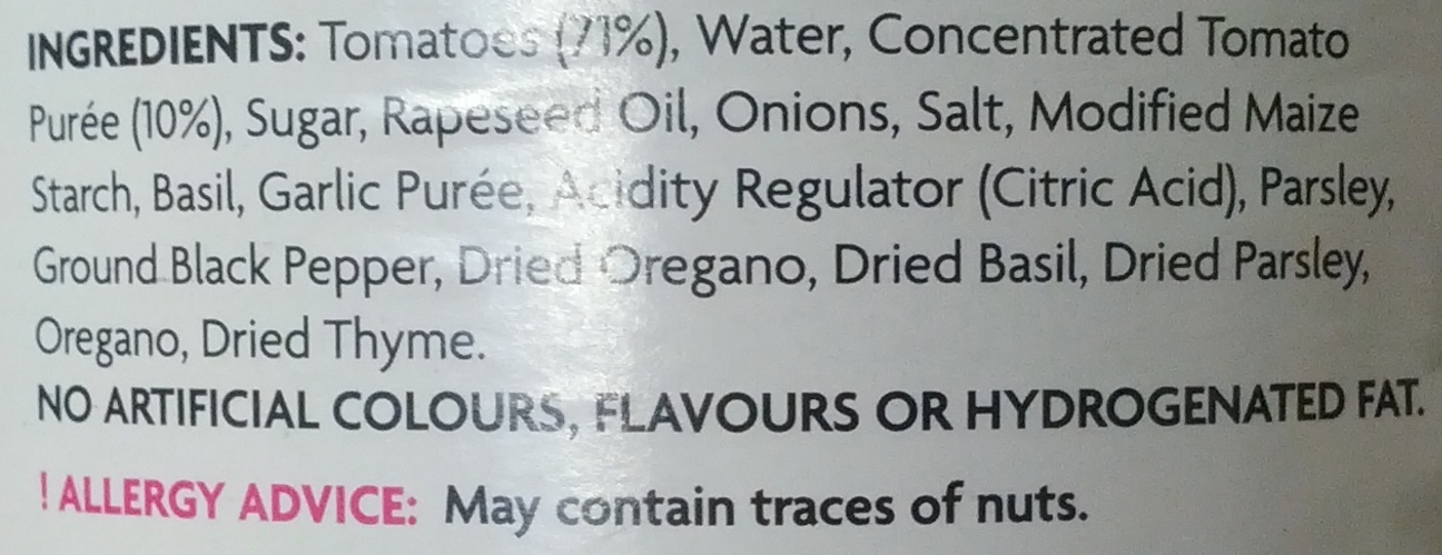 Bolognese Sauce - Ingredients - en