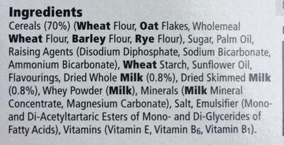 Tesco Breakfast Biscuits Milk And Cereal 6Pk 300G - Ingrediënten