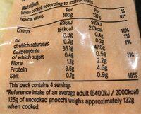 Tesco Gnocchi - Voedingswaarden - en
