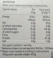 Chicken & bacon pasta bake - Voedingswaarden - en