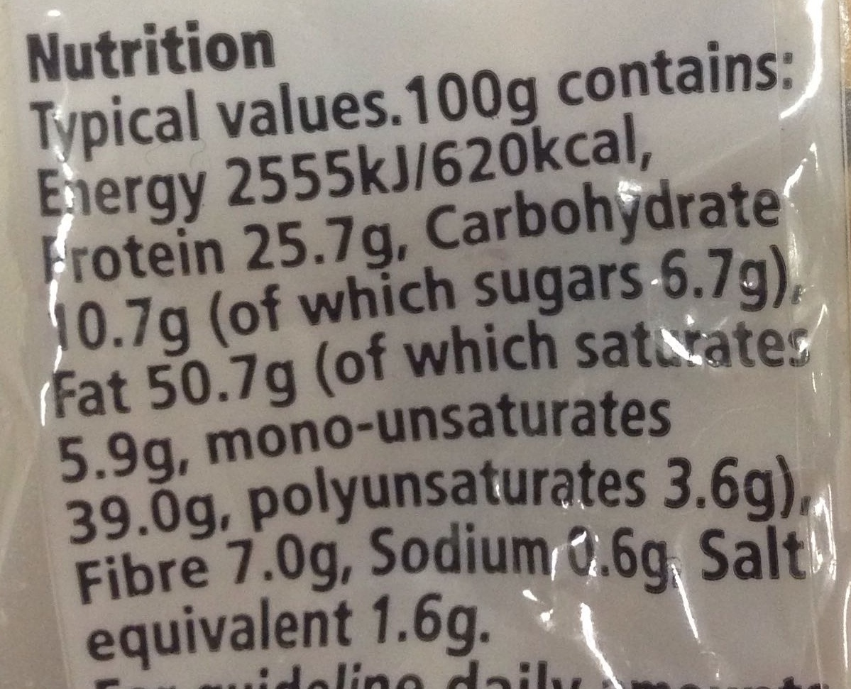Roasted salted peanuts - Nutrition facts