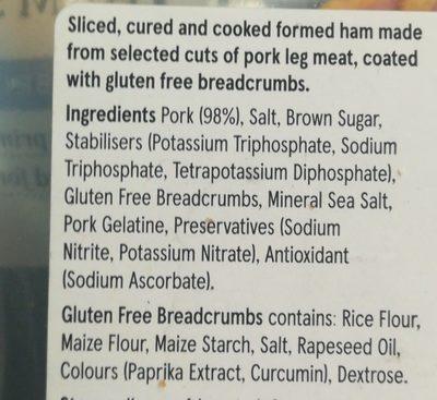 Crumed ham slices - Ingredients