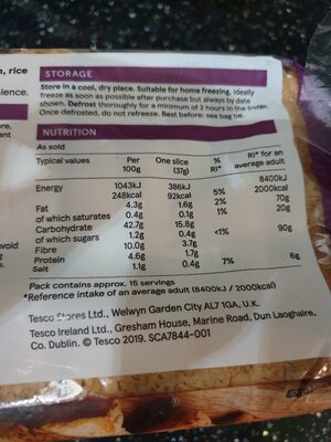 Tesco Free From Sliced White Bread 550G - Product - en