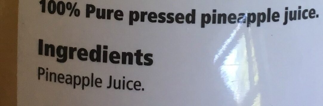 Pineapple Juice Not From Concentrate - Ingrédients