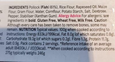 Crispy breaded Pollock Portions - Ingredients - en