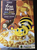 Tesco Free From. Honey Hoops - Product - en