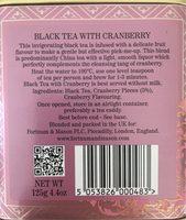 Black tea with fruit - Ingrédients