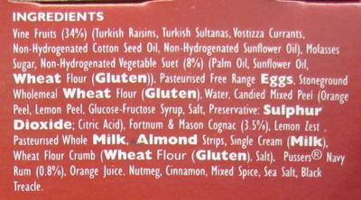 St James Christmas Pudding - Ingredients - en