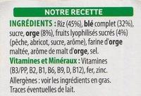 Special K Pêche Abricot - Ingrédients - fr