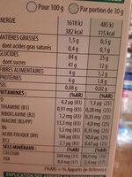Céréales Smacks - Informations nutritionnelles - fr