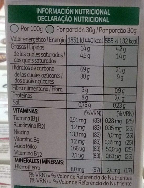 Krave White Choco 375 gr - Información nutricional - fr