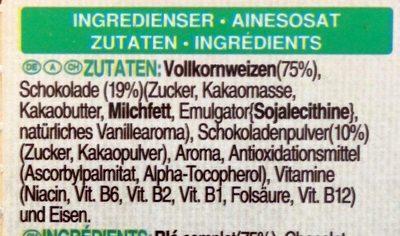 Toppas Choco - Inhaltsstoffe