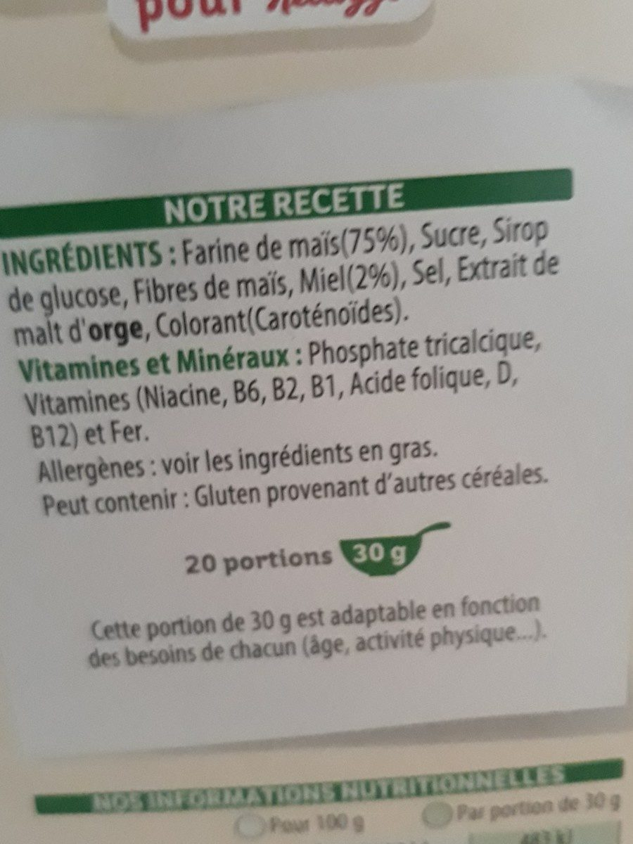Miel pops - Ingredients