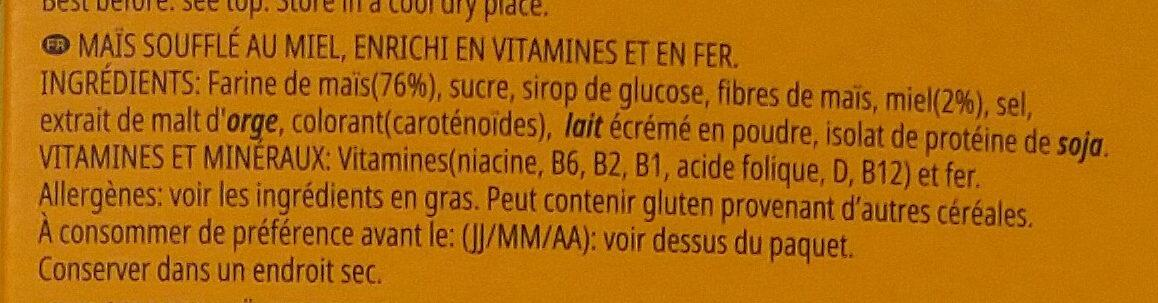 Miel pops - Ingrediënten - fr