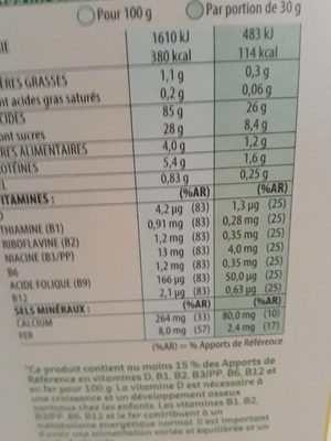 Miel pops - Nutrition facts